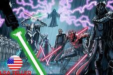 "Star Wars Darth Vader Anakin 36"" x 24"" Large Wall Poster Print Fan Art Movie #01"