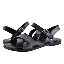 Womens Shoe Soda Mermaid-S Open Toe Criss Cross Sandals Black *New*