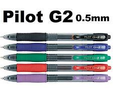 Pilot G2 Pens CHOOSE QTY. & COLORS 0.38 0.5 mm Black Gel Purple Green Red Blue