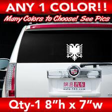 "ALBANIA ALBANIAN EAGLE SOLID FLAG WINDOW LARGE DECAL STICKER 8""h x 7""w"