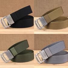 Fashion Men Nylon Belt Webbing Metal Buckle Woven Military Army Tactical Combat