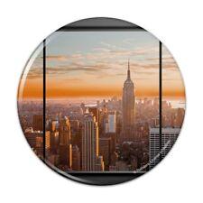 New York Skyline Sunset Penthouse View Compact Pocket Purse Hand Makeup Mirror