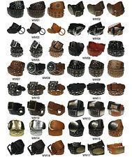 Damas Ancho MODA cinturones de mujer Diamante Tuerca Diseños tamaño grande