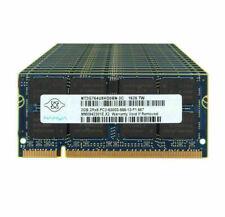 LOT NANYA 2GB 2RX8 PC2-5300S DDR2 667Mhz 200Pin 1.8V Memory Notebook SODIMM #DD