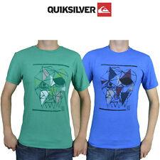 Mens Quiksilver Tees T-Shirt Summer Cotton Pirate Skull Top Australian Surf Q2