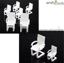 2 x modello moderna sedia MODELLISMO UFFICIO SOGGIORNO 1:50 - 1:100 traccia 0 h0 TT