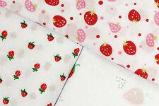 FRAISE / Fraises - imprimé tissu poly coton - Largeur 114 cm