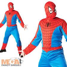 Spiderman Para Hombre Fancy Dress superhéroe El Sorprendente Hombre Araña Disfraz Adulto Traje