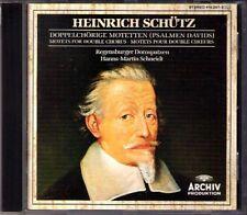 SCHÜTZ Motets fo Double Chorus Psalms Psalmen Davids Hanns-Martin SCHNEIDT CD