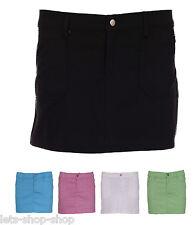 Womens Skirt Ladies Bodycon Stretch Short Cotton Mini Office Pencil 8 10 12 14