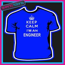 Keep Calm soy un ingeniero de adultos para hombre Damas Regalo Camiseta