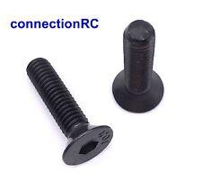 Machine Screws Hex Socket Countersunk Black Steel x 8 - various sizes