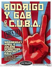 RODRIGO Y GABRIELA / C.U.B.A. 2012 PORTLAND CONCERT TOUR POSTER