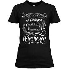 Supernatural Womens T-SHIRT Black S-4XL New Sam Winchester Addiction