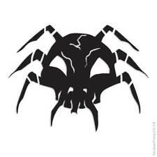 Skull Spider Decal Sticker Choose Pattern + Size #641