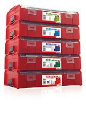 Fischer FIXtainer Sortimentsboxen zur Auswahl *Stapelboxen* Dübel Sortimente