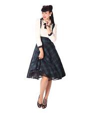 SugarShock Valentina Tartan retro Petticoat Swing Hosenträger Rock kariert