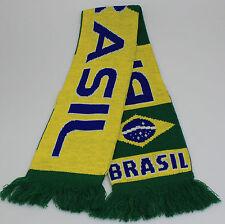 écharpe tricotée 145 cm 18 cm large FOOTBALL terre Brésil Brésil 56048
