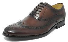 Garçons deux tons chaussures marron en cuir doublé lacets décontracté chic 13 1 2 3 4 5 5.5