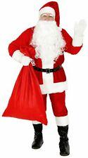 Deluxe Weihnachtsmannkostüm Kostüm Weihnachtsmann Santa Claus Plüsch Gr. M-XXXL