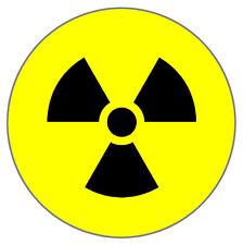 NUCLEAR / RAD / RADIATION SIGN/SYMBOL - 55MM FRIDGE/FREEZER/LOCKER MAGNET