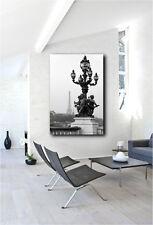 Street Lantern Eiffel Tower Paris France Canvas Art Poster Print Wall Decor