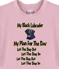Dog T Shirt - Black Labrador My Plan For The Day -Men Women Cat T Shirt Availabl