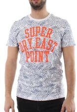 Superdry Camiseta De Los Hombres Tiki Club Aop Tee Optic azul marino