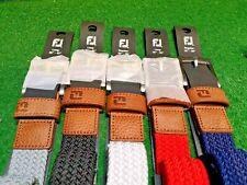 Brand New: FootJoy Fj Braided Belt / Color Navy | Scarlet | Grey | White | Black