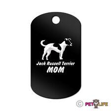 Jack Russel Terrier Mom Engraved Keychain Gi Tag dog profile jrt parson v2