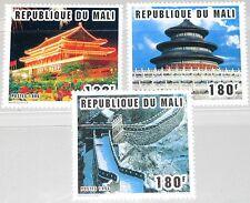 MALI 1996 1657-59 802-4 Sites of Beijing CHINA 96 Peking great Wall Bauwerke MNH