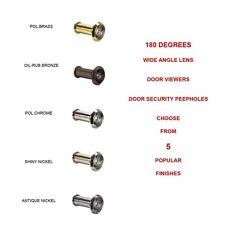 DV180-15A 180 Degree Door Viewers Security Door Peepholes Chrome, Nickel, Bronze