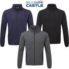 Azul Castle Melford Jersey Hombre S-3XL Capa Media Chaqueta con Cremallera