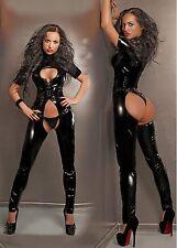 CATSUIT SUIT CHAPS OVERALL PVC BLACK VINYL LATEX LEATHER SEXY LINGERIE 38048