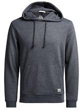 JACK & JONES Originals Overhead Hoodie Hooded Cotton Sweatshirt Top Dark Grey