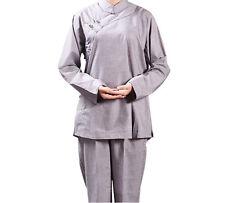Women's Shaolin Monk Shirt Pants Buddhists Meditation Uniforms Monk Robes Zsell