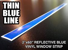 "2x60"" THIN BLUE LINE WINDSHIELD STRIP Window Decal Sticker Police Lives Matter"