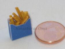 Patatas fritas de fimo miniatura 1/12 casa muñecas