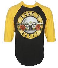 Authentic GUNS N ROSES Bullet Raglan Baseball Shirt S-2XL NEW