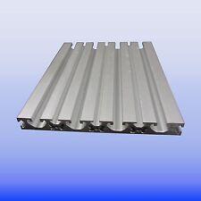 Aluprofil  Nutplatte 16 x160 Nut 8  I - Raster Aluminiumprofil mit T Nut Eloxiet