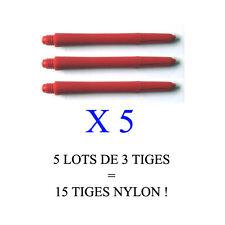 Lot de 5 jeux = 15 tiges flechettes darts shaft NYLON  (short: 3,5cm)