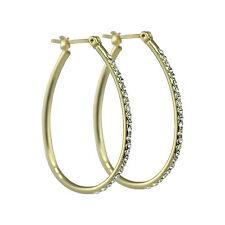 Oval Crystal Hoop Made with SWAROVSKI® Crystals