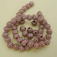 100pcs-Spacer Beads Bicone Antique Copper 4mm.