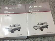 2003 Lexus LX470 LX 470 Service Shop Repair Manual SET FACTORY OEM 03 BOOKS x