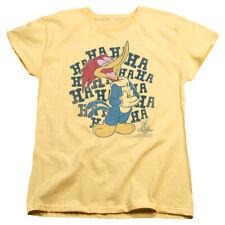 Woody Woodpecker Animated Cartoon Character Laugh It Up Women's T-Shirt Tee