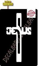 Jesus Cross Die Cut Decal Sticker Made in America Buy America