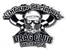Drag Racing Decal Vintage Strippers Drag Club NHRA
