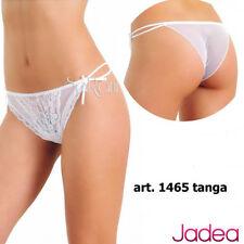 6 Slip Jadea Tulle Pizzo Romantica  Art. 1465 Tanga Bianco Nero 2 3 4 Intimo