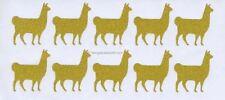 Glitzy Glitter Llama Alpaca Stickers Pack 20 School Home Crafts 4 Colour Choices