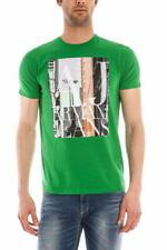 T-shirt Maglietta Armani Jeans AJ Sweatshirt -60% Uomo Verde V6H06DA-6K SALDI